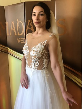 Свадебное платье А-силуэт S009