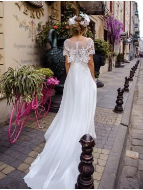 Свадебное платье не пышное S025