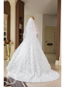 Свадебное платье в бабочки S029