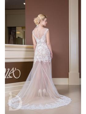 Прозрачное свадебное платье S023